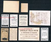 1900s Wrestling trade cards 10 diff Chocolates Poulain Phillips Ferrero Potin etc, seen IN MY BOOK!